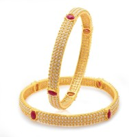 Sukkhi Delightful Moti Alloy 18K Yellow Gold Plated Bangle Set Pack Of 2