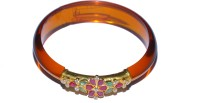 Sri Balaji Jewellery Mart Joyful Flowers Gold Yellow Gold Plated 24 (995) Bangle