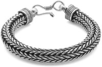 D&D Closely Packed Links Alloy Silver Plated Bracelet