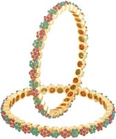 Vama Fashions Alloy Cubic Zirconia Rhodium Bangle Set Pack Of 2 - BBAEDZHYH6UMKC6H