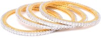 Affinity Jewellers Beautiful Alloy 18K Yellow Gold Plated Bangle Set Pack Of 4