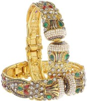 Luxor Colorful Stones Alloy Yellow Gold Plated Bracelet Set Pack Of 2