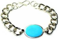 Bajya Men's Bracelet Turquoise Color Stone (Salman Khan Bracelet) Steel Bracelet