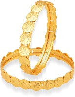 Sukkhi Intricately Temple Jewellery Alloy Yellow Gold Plated Bangle Set Pack Of 2