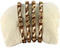 The Fine World Set Of 4 Graceful And Contemporary Style Chudi Metal Zircon Brass Plated Bangle Set Pack Of 4