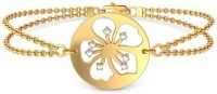 BlueStone The Dutiful Hibiscus Yellow Gold 14kt Diamond Bracelet