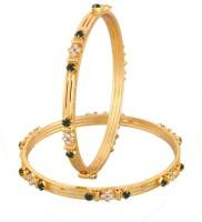 Vama Fashions Alloy Cubic Zirconia Rhodium Bangle Set Pack Of 2 - BBAEEYGPQYYANY9X