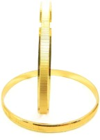 Glamche Gold Plated Bangles Alloy Yellow Gold Plated Bangle Set Pack Of 2