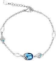 NEVI Blue And Silver Alloy, Crystal Swarovski Crystal, Crystal Bracelet