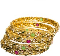 Joyas Traditional Brass Bangle Set Pack Of 4