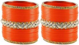 Vidhya Kangan Brass Yellow Gold Bangle Set