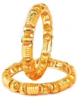 VK Jewels Gold Plated Alloy 18K Yellow Gold Plated Bangle Pack Of 2