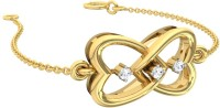 TBZTheOriginal TBZ - The Original 18K Yellow Gold Love Heart LBT With 0.03cts Diamonds Yellow Gold 18kt Diamond Bracelet