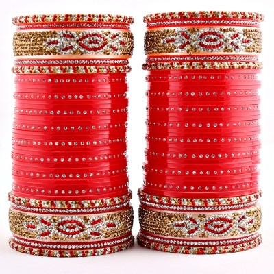 40% OFF on Lucky Jewellery Punjabi Bridal Choora Full Two Hands Acrylic  Bangle Set Pack of 60 on Flipkart | PaisaWapas com