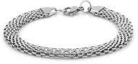 Voylla Artifictial Simplicity Plain Alloy Silver Plated Bracelet