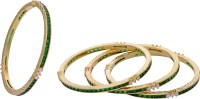 Prisha Collections Golden Elegant Alloy Yellow Gold Plated Bangle Set Pack Of 4