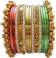 My Design Alloy Brass Bangle Set Pack Of 17