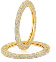 Sukkhi Excellent One Pair Alloy 24K Yellow Gold Plated Bangle Set Pack Of 2