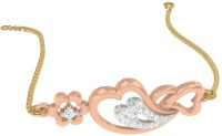 TBZTheOriginal TBZ - The Original 18KT Rose Gold Heart N Heart Loose Bracelet With 0.1cts Diamonds Rose Gold 18kt Diamond Bracelet