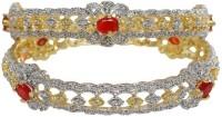 Sheetal Jewellery Brass, Alloy 18K Yellow Gold Plated Bangle Set Pack Of 2