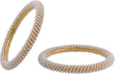 Buy Hyderabad Jewels Alloy, Silver Bangle Set: Bangle Bracelet Armlet
