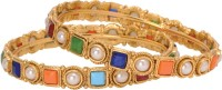 Sparkle Street Navratan Rangeen Alloy, Stone Bangle Pack Of 2