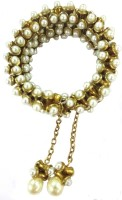 Deco Junction Ethnic Golden Studded With Pearls Alloy Bracelet