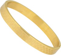 Vaishnavi World Best Selling 24kt Gold Plated Laser Printed Beautiful Checks Design Unisex Made Of 316L Surgical Stainless Steel Bracelet