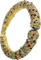 Hyderabad Jewels Alloy, Silver Pearl Rhodium Kada