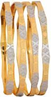 Maayra Stylish Forming Jewellery Brass Bangle Set Pack Of 4