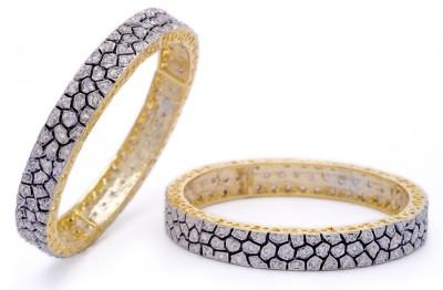 Hyderabad Jewels Alloy, Silver Bangle Set - Pack Of 2 - BBADYFT7CWQNXNYF