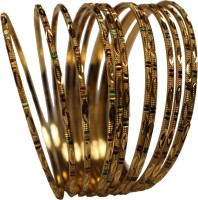 Sharani Princess Delight Yellow Gold 22K Yellow Gold Plated 22 Bangle Pack Of 12