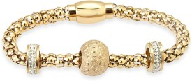 Tvesha Alloy Yellow Gold Bracelet