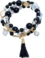 Super Drool Beads And Crystals Metal Charm Bracelet