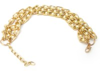 Swaraj Dazzle Alloy Rose Gold Plated Charm Bracelet
