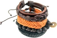 Streetsoul Value Pack 40u Brown  Leather Bracelet Set Pack Of 4