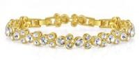 NEVI Gold Alloy, Crystal Swarovski Crystal, Crystal 18K Yellow Gold 18 Bracelet