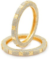 Sukkhi Marquise One Pair Alloy 24K Yellow Gold Plated Bangle Set Pack Of 2