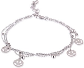 Trendy Baubles Metal Rhodium Charm Bracelet