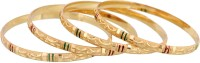 Vendee Fashion Aesthetic Design Gold Plated Brass Bangle Set Pack Of 4
