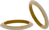 Hyderabad Jewels Alloy, Silver Pearl Rhodium Bangle Set Pack Of 2
