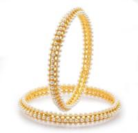 Sukkhi Pleasing Moti Alloy 18K Yellow Gold Plated Bangle Set Pack Of 2
