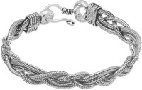 D&D Fabulous Chained Link Alloy Silver Plated Bracelet
