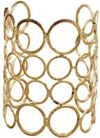The Pari Round Alloy Yellow Gold Plated Cuff