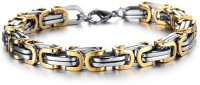 Magic Stones Atypical Brass White Gold, Yellow Gold Plated Bracelet