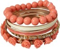 Crunchy Fashion Alloy, Resin Bangle Set - Pack Of 6