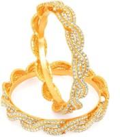 Sukkhi Dazzling & Moddish Copper 18K Yellow Gold Plated Bangle Set Pack Of 2
