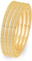 Sukkhi Ritzzy Single Line Alloy 18K Yellow Gold Plated Bangle Set Pack Of 4