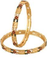 Vama Fashions Alloy Cubic Zirconia Rhodium Bangle Set Pack Of 2 - BBAEEYGPADN5Q5GC