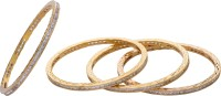 Hyderabad Jewels Alloy, Silver Bangle Set (Pack Of 4)
